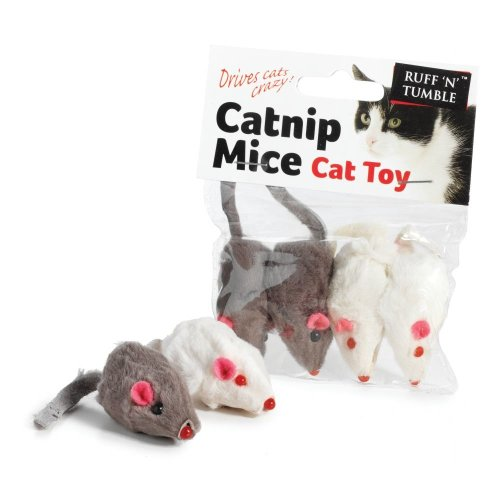 Ruff 'n' Tumble Catnip Mice 4 Piece (5cm)
