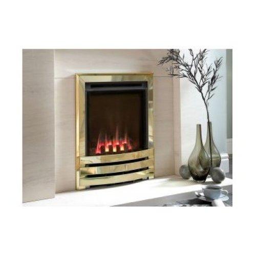 Designer Fire - Flavel FSHCU1MN Coal Brass Contemporary Windsor HE Gas Fire - MC