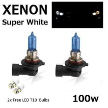 HB3 100w SUPER WHITE XENON (9005) UPGRADE Head Light Bulbs + 501 LED Sidelights
