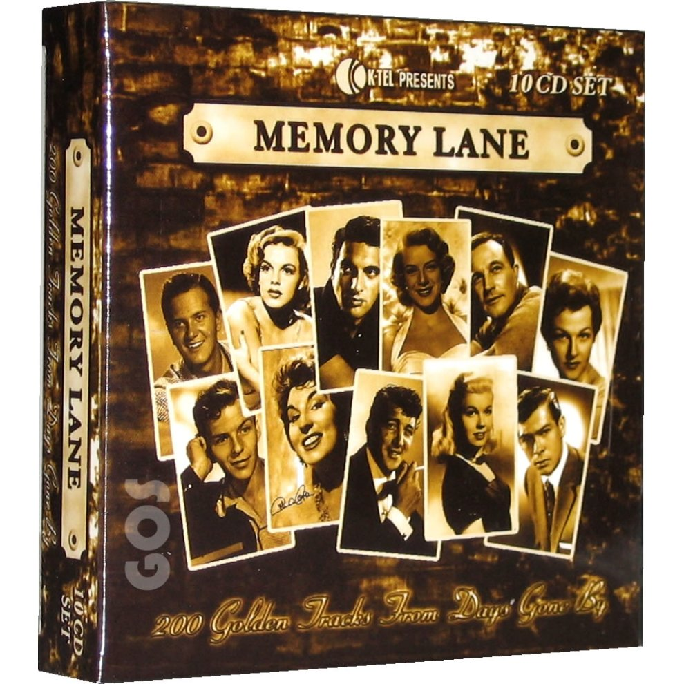 Memory Lane 1950s Songs K-Tel 10 CD 200 Classic Fifties Music Tracks