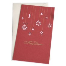 Christmas Cards Greeting Cards Christmas Gift Xmas Cards (4 Cards and Envelopes), Red # 26