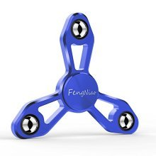 Tri-Spinner Fidget Toy with Ultra Fast Bearing for Anxiety and ADHD,Premium Quality EDC Focus Hand Spinner Toy for Kids & Adults (New Blue X9)