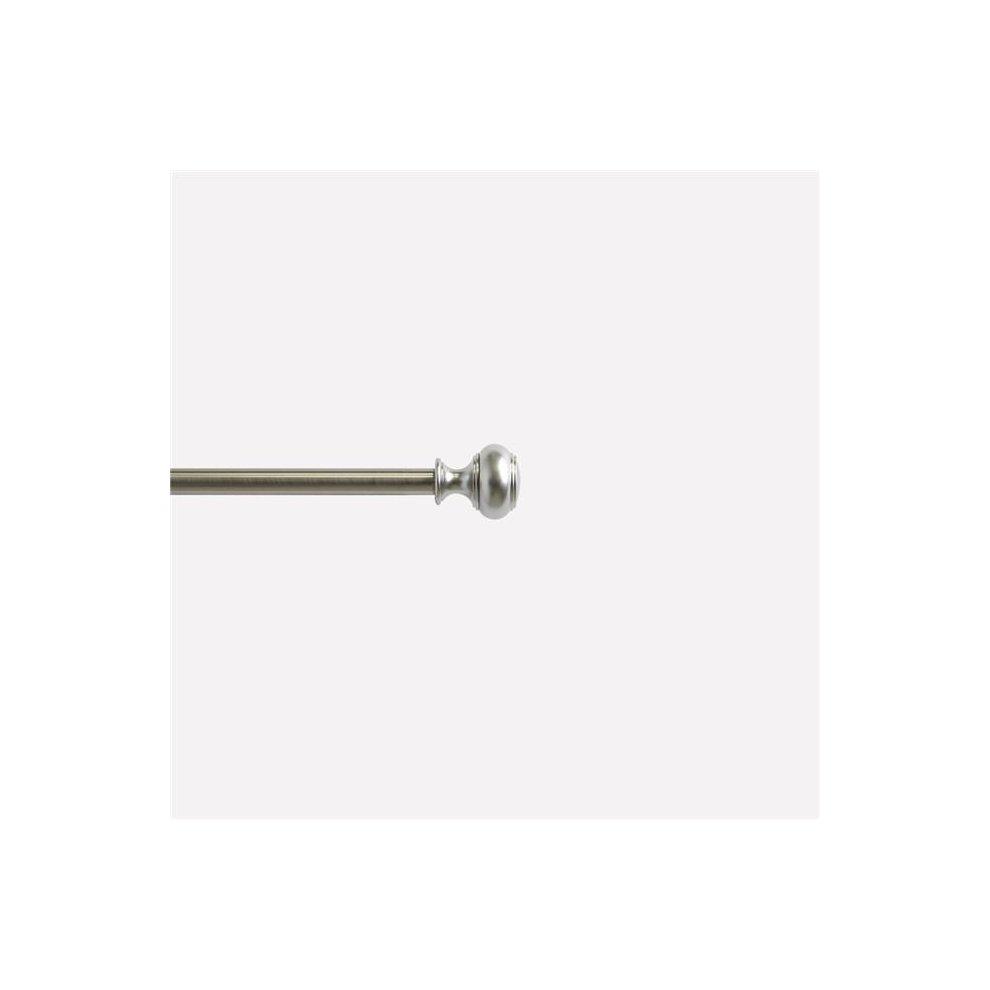 Umbra Cappa Brushed Nickel Curtain Rod Modern Adjustable Curtain Rod Extends /&