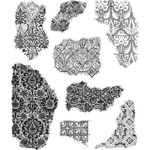"Tim Holtz Cling Stamps 7""X8.5""-Fragments"