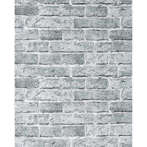 EDEM 583-26 Rustic design brick wallpaper decor vintage stone look fashion grey