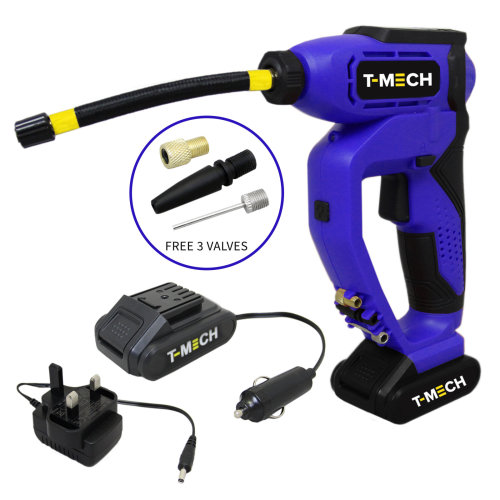 T-Mech Tyre Inflator Cordless Digital Electric Automatic Pump