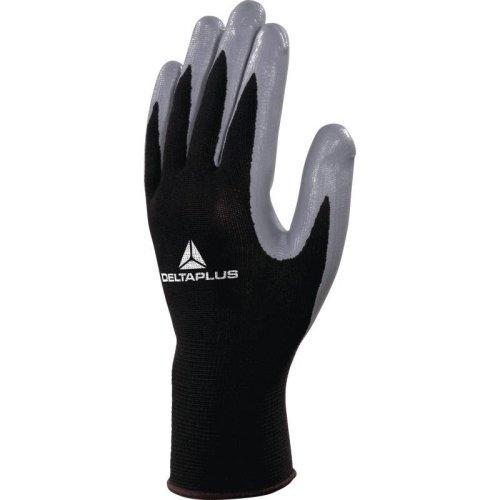 Delta Plus VE712 Polyester Safety Gloves Black/Grey (Various Sizes)