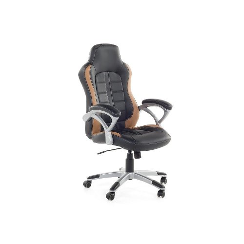 Swivel Computer Chair Black and Light Brown - PRINCE