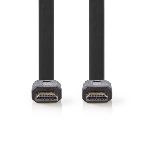 Flat High Speed HDMI™ Cable with Ethernet Black