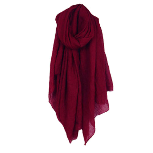 Womens Fashion Solid Scarves Comfortable Scarf Shawl Wrap, Wine
