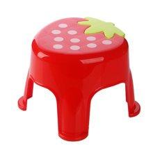 Cute Cartoon Creative Anti-skidding Plastic Stool Footstool for Children, Strawberry, Red (Large)