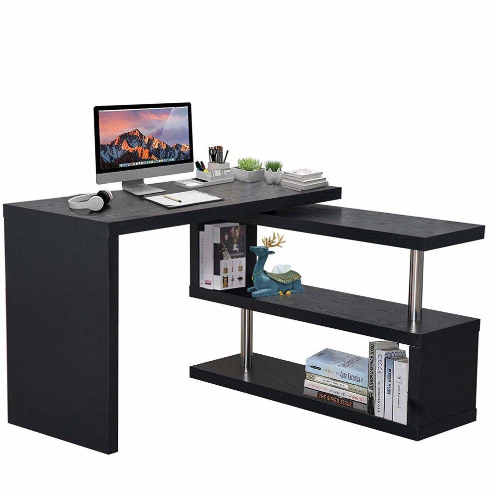 Homcom computer desk storage display on onbuy