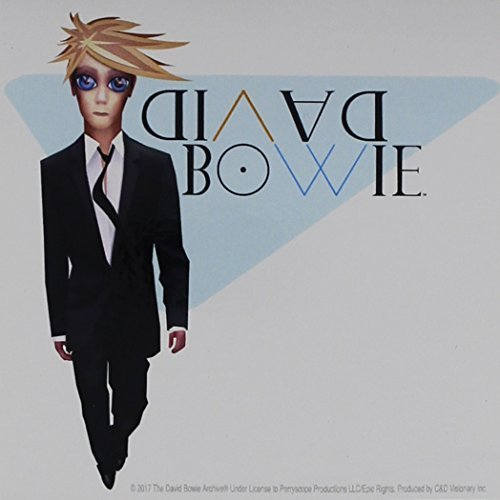 CD Visionary David Bowie Reality Sticker Childrens Arts and Crafts Adhesives