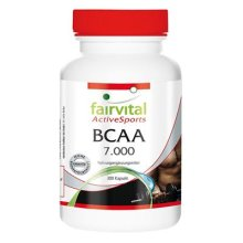 fairvital - BCAA 7000 - One Month's Pack (7g per Daily Dose) - Vegetarian Capsules without Additives - 300 Pack