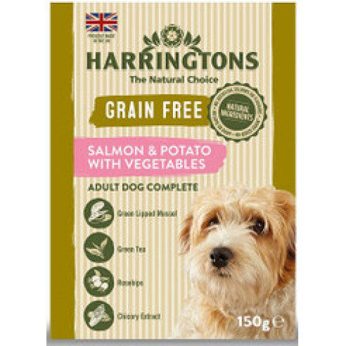 Harringtons Grain Free Salmon & Potato with Vegetables 8 x 400g