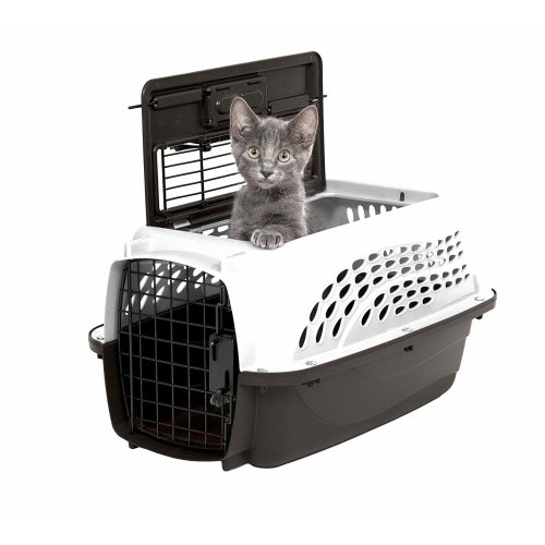 """Petmate 2 Door Top Load Kennel 19"""" up to 10lbs Pearl White/Coffee"""
