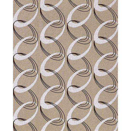 EDEM 1017-13 Retro rings wallpaper textured 70s style light brown-beige white