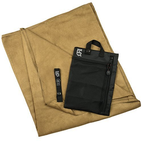 Gear Aid Quick Dry Microfiber Towel For Travel Camping And Sports Mocha Brown X Large 35 X 62