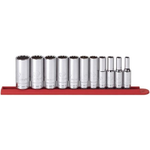 KD Tools KDT80563 11 Piece 0.33 Inch Drive 12 Point Deep Sae Socket Set