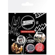 5 Seconds of Summer Mix 1 Badge Pack
