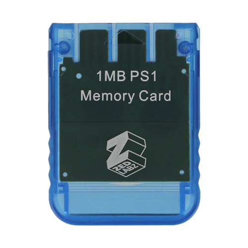 Memory card for PS1 Sony PlayStation One PSone PS2 compatible* 1MB Blue ZedLabz