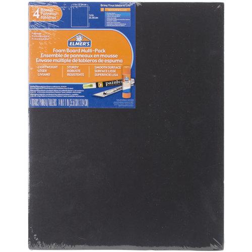 "Elmer's Foam Boards 11""X14""X.1875"" 4/Pkg-Black"