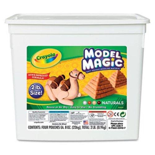 Crayola. 232412 Model Magic Modeling Compound  Natural  8 oz