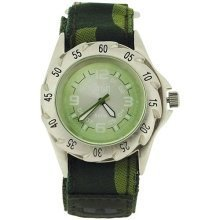 Terrain Camouflage Sport Surf Green Dial Boy Army Watch TV1309G