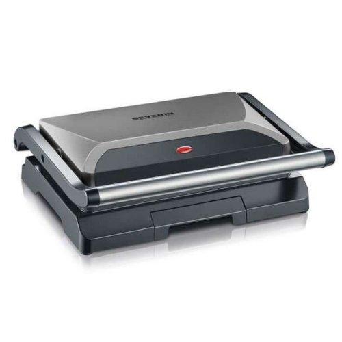 Severin Electric Table Top Compact Multi Grill Metallic Black & Grey 800W KG2394