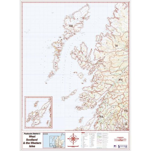 Postcode District Map 2 - West Scotland & The Western Isles