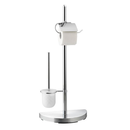 78a8b30c8c1251 Axentia Toilet Paper Stand Lianos - Toilet Brush and Holder Set - Toilet  Roll Holder Freestanding - Toilet Paper Roll Stand Chrome - Contemporary...  on ...