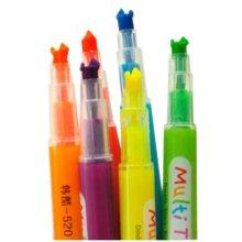 Set of 9 Highlighter Fluorescent Marker Pen, Random Color