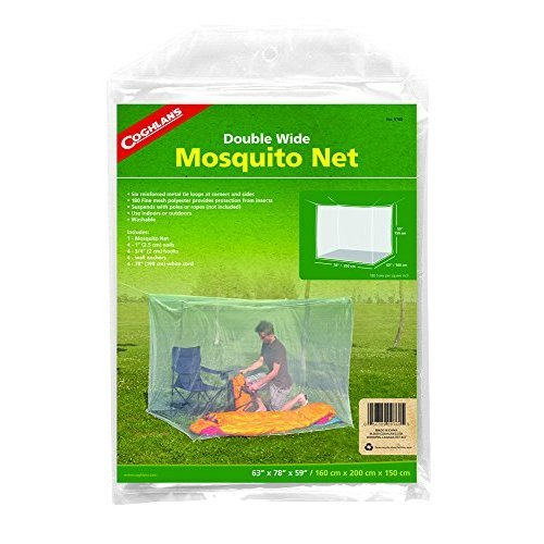 Coghlans Double Wide Rectangular Mosquito Net, White