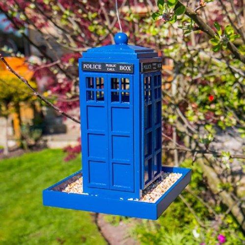 Police Box Bird Feeder Tardis Funky Garden Food Dr Who