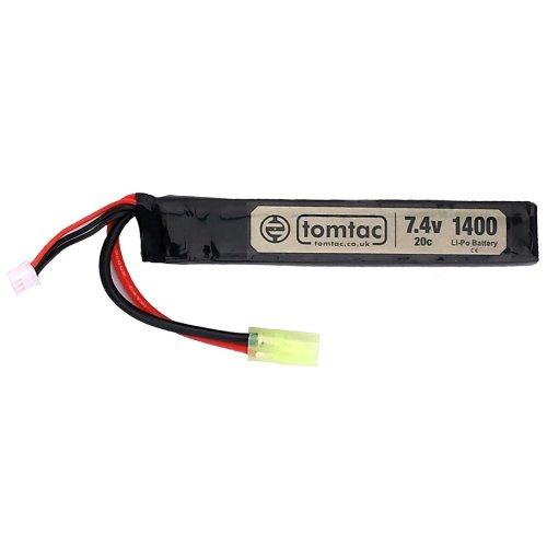 Airsoft Battery 7.4V 20C 1400Mah Lipo Mini Tamiya Tomtac