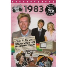 35th Coral Wedding Anniversary gift ~ Reminisce 1983 with DVD and Greeting Card