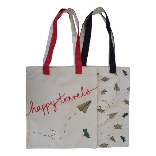 RADLEY 'Happy Travels' Pack of 2 Canvas Shoulder/Shopper Bags
