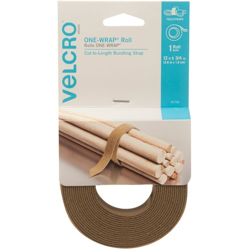 "VELCRO(R) Brand ONE-WRAP(R) Roll .75""X12'-Coyote"