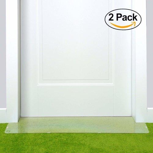 PETFECT Carpet Cat Scratch Protector - Premium Set-of-2 30 Inch Deterrents w/Slip Stopper Doorway Guard Design