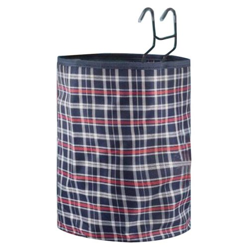[Plaid-6] Waterproof Canvas Bicycle Basket Foldable Basket for Bike