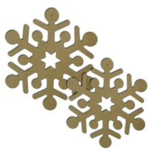 Pack of 2 Wooden MDF Snowflakes - 19cm & 22cm