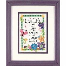 D06231 - Dimenions Mini Crewel - Live Life
