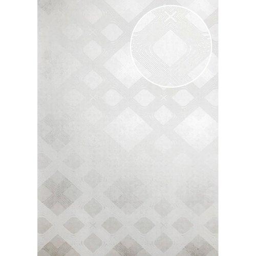 ATLAS XPL-588-1 Graphic wallpaper shimmering white oyster white 5.33 sqm