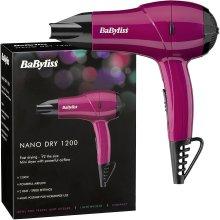 BaByliss Nano Travel Mini Hair Dryer 1200W 2 Heat & Speed Settings, 5282BAU Pink