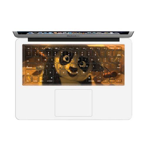 Fashion Cute Panda Keyboard Stickers / Decals For Macbook Pro Retina 13 Inch