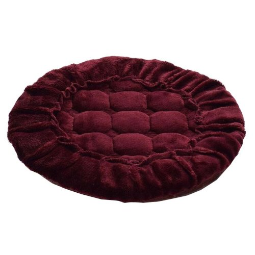 [R] Soft Flannel Round Stool Cover Bar Stool Seat Pad