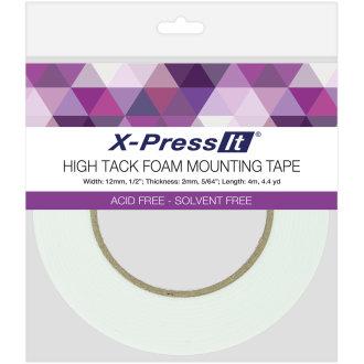 """X-Press It High Tack Foam Mounting Tape-.5""""X4.4yd"""