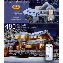CHRISTMAS XMAS LED LIGHTS SNOWING ICICLE / STRING / TREE / NET - WHITE OR BLUE[480 Led White Icicle Lights]