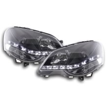 Daylight headlight VW Polo type 9N3 Year 05-09 black RHD