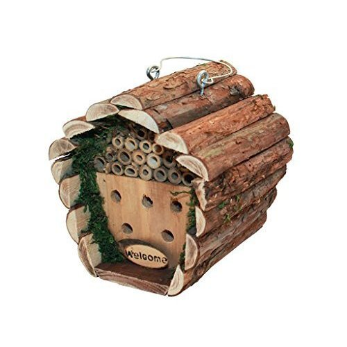 Redwood Leisure Bb-bh307 Hanging Wooden Insect And Bee House - Wood - Box -  bee house box wooden hanging garden insect hotel nesting bug ladybird